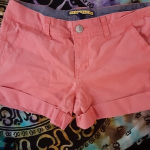 Pink/Salmon colored shorts sz 6